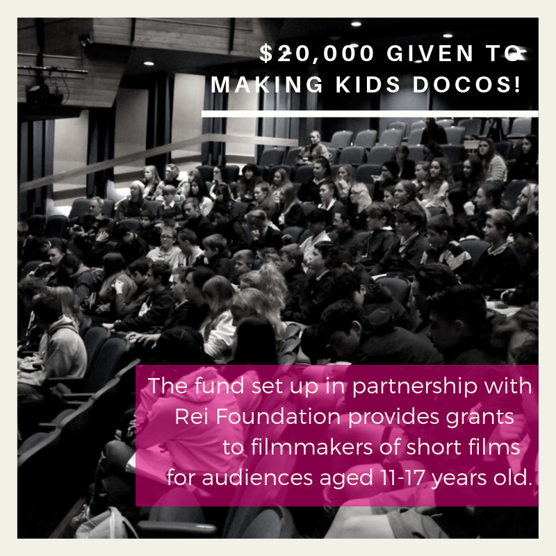 $20,000 given to making documentaries for children!