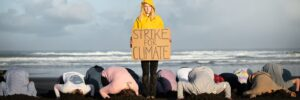 Kiwi students protesting climate change
